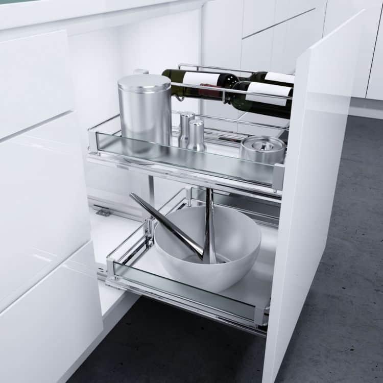 Portabottiglie cestello estraibile frontale Base Liner 4 bottiglie  Tuttoferramenta