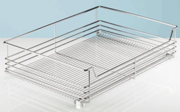 Cestello estraibile per armadio Hettich 680 x 160 x 500 mm Exklusiv in acciaio  Tuttoferramenta