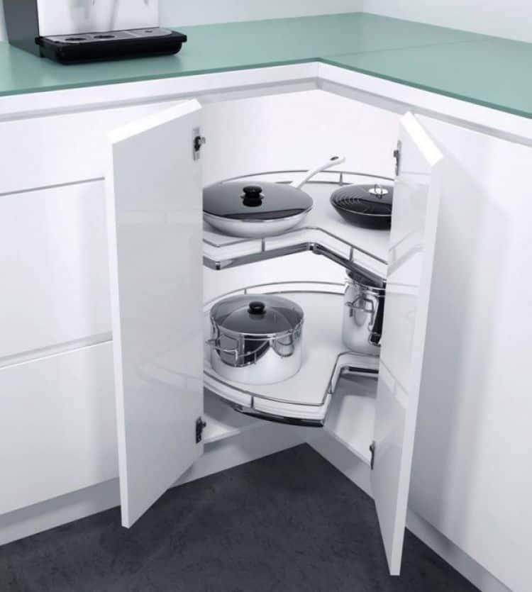 Recorner Max meccanismo ad angolo per cucina  Hfele