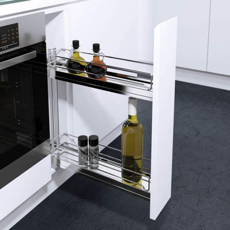 Portabottiglie modulo 150 mm per mobili estraibili cucina