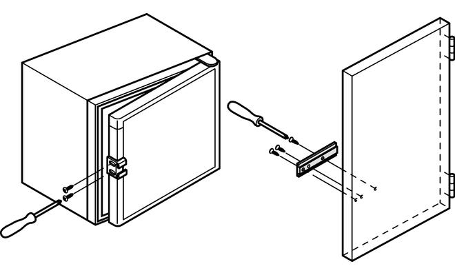 Cerniera per frigorifero di tascinamento anta del mobile
