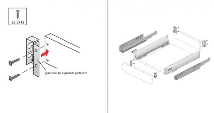 Kit cassetto InnoTech Atira, altezza 70 mm, lunghezza