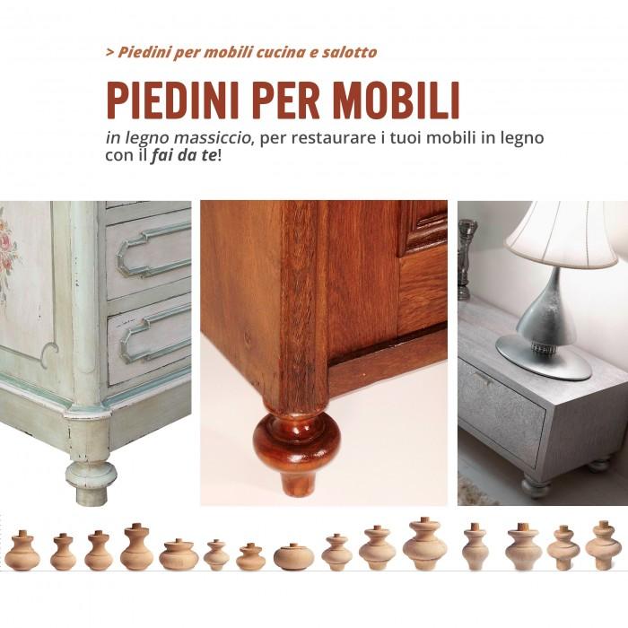 Piedini e colonnine in legno per mobile  Ferramenta per mobile  Tuttottoferramentait