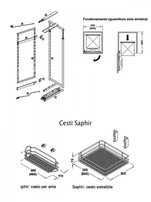 Dispensa ad estrazione frontale per armadi a colonna per
