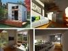 Viste interne e esterne della Nomad Micro Home