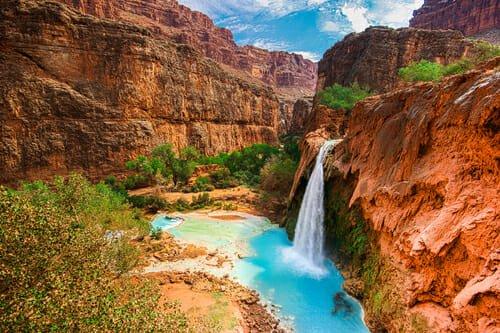 Le piscine naturali più belle al Mondo: cascate di Havasu nel Gran Canyon (Arizona)
