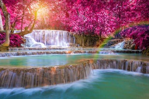 Le piscine naturali più belle al Mondo: le cascate Tat Kuang Si in Laos