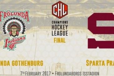 Champions Hockey League: la finale sarà Frolunda Göteborg vs Sparta Praga