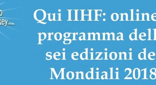 Qui IIHF: il programma delle edizioni dei Mondiali 2018