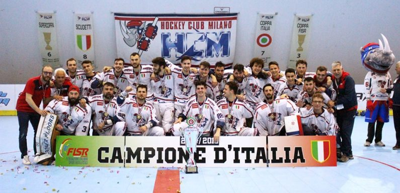 Inline Hockey: ottavo scudetto di fila del Milano campione d'Italia 2018-2019