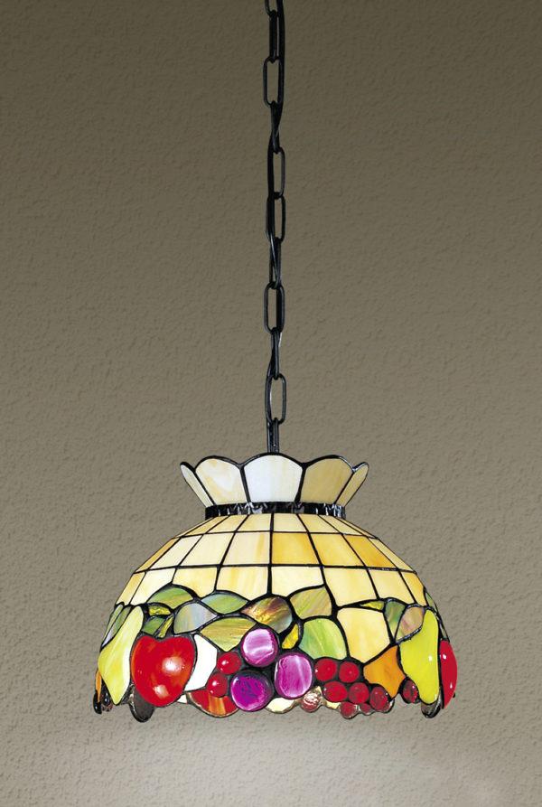 Sospensione Tiffany con catena. Mod.T924 S