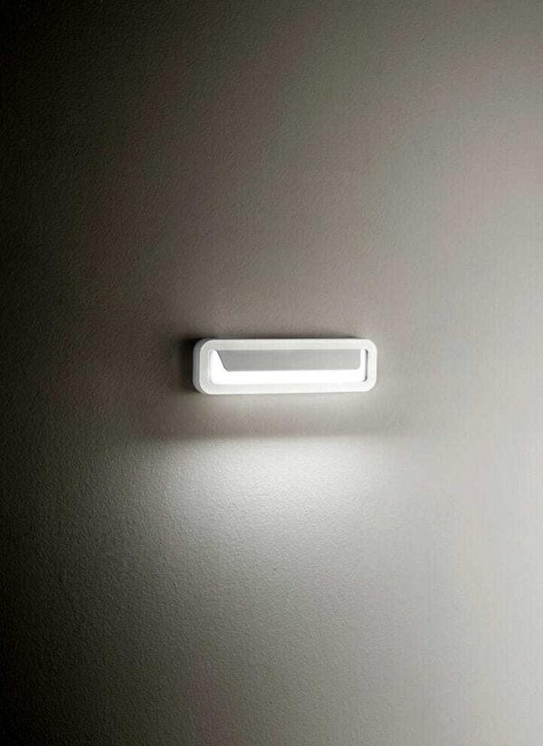 Applique alluminio per esterni/interni colore bianco