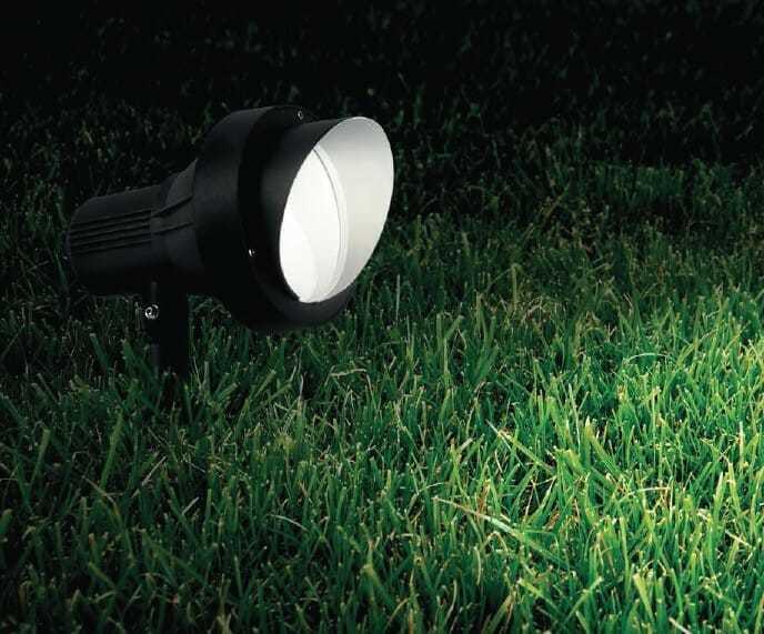 Faretto con picchetto da esterno terra pt luce spot per ambienti