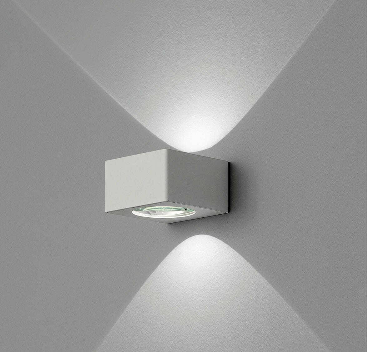 Lampada led parete biemissione lynn - Lampada parete design ...