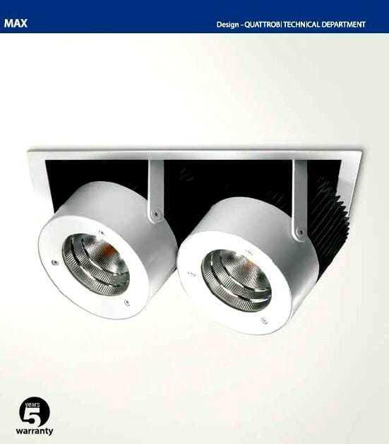 Doppio Proiettore incasso illuminazione led per negozi e attività commerciali