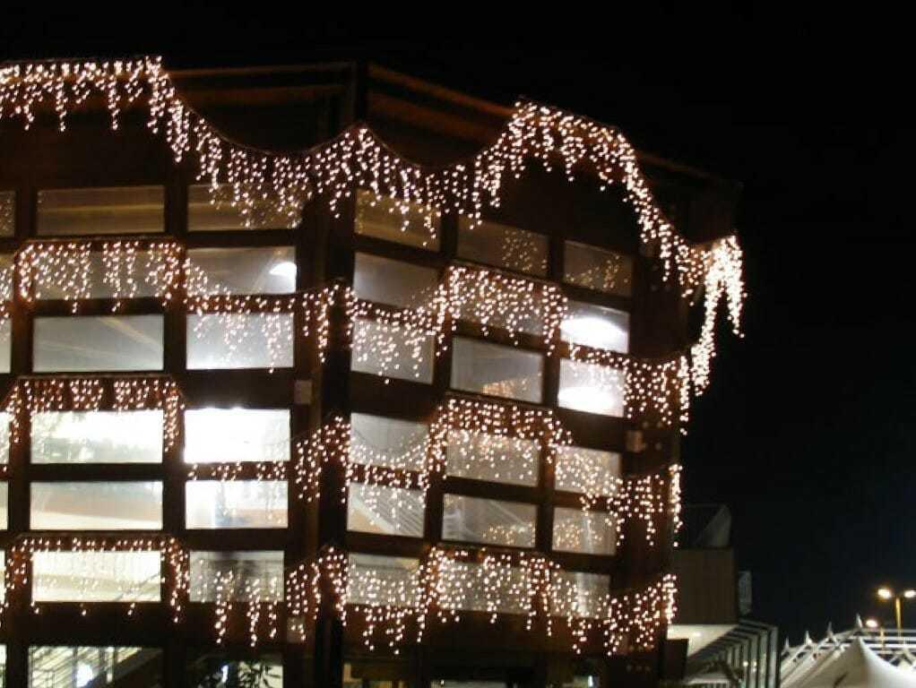 Tenda luminosa led per esterno luci metri