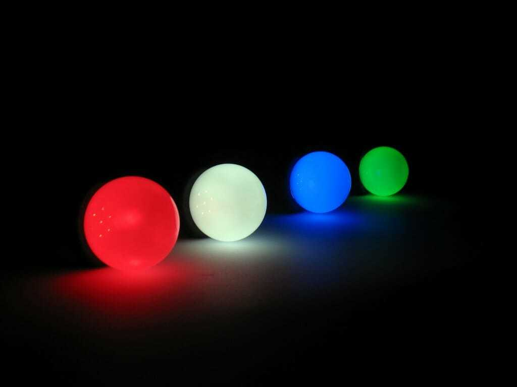 Luci led lampadine colorate per illuminazione alternativa feste e
