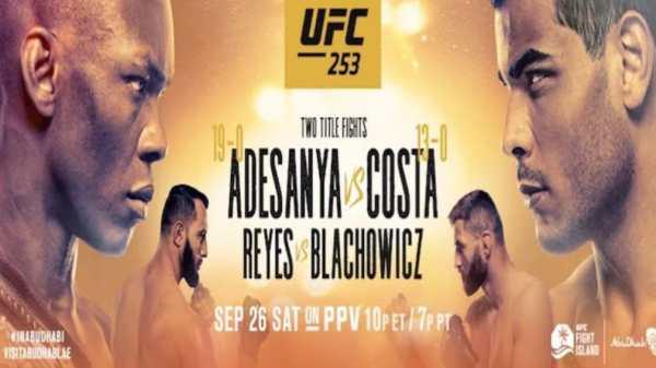 UFC 253 official banner