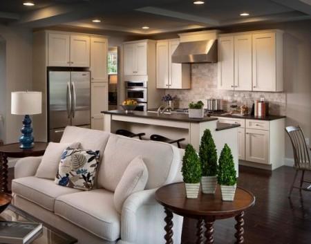 Come arredare il soggiorno living con cucina  Tutto per Lei