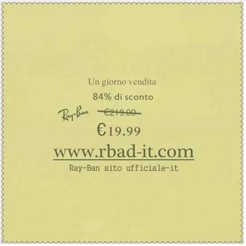 أمر بالضبط اضمحل offerta ray ban 19 euro