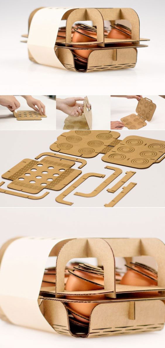Packaging di design per uova innovativi ed eco