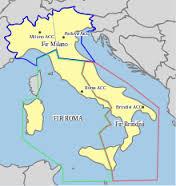 Suddivisone dello spazio aereo italiano