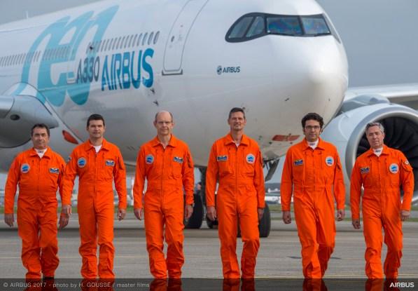 Il Team che ha condotto il volo inaugurale