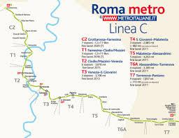 piantina metro C Roma