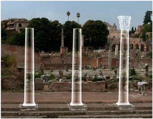 Le colonne del Tempio della Pace