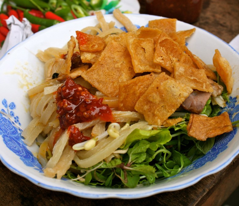i noodles vietnamiti Cao Lau tipici di Hoi An