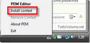 PEM editor