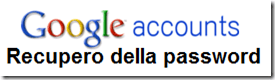Recuperare password Google