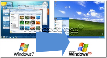 Windows XP downgrad windows 7