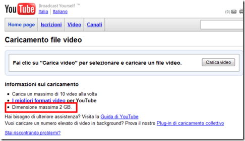 YouTube 2 GB