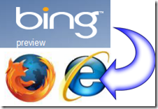 bing in firefox e IE