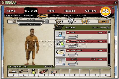Client battlefield Heroes abilità
