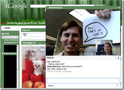 video chat in iGoole