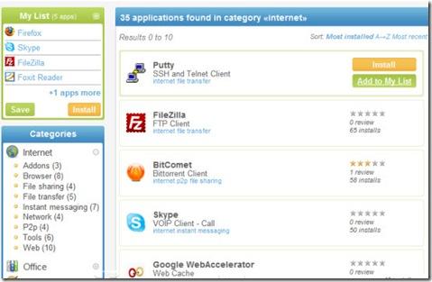AllMyApps_crea lista applicazioni