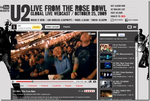 Concerto live U2 Youtube