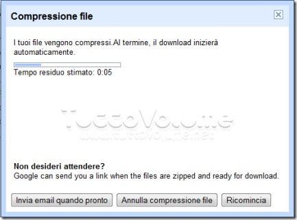 Google Docs scarica archivio
