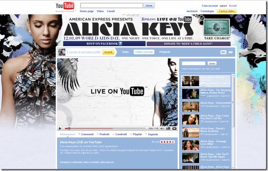 Alicia Keys YouTube Channel