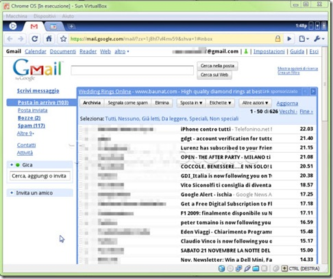 Chrome OS Gmail