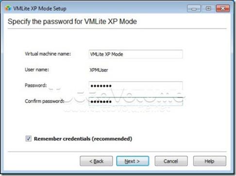 VMLite crea utente XP Mode