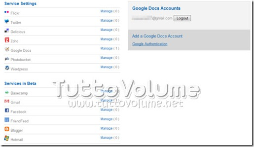 Backup account google