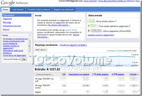 Google Adsense Interfaccia Beta