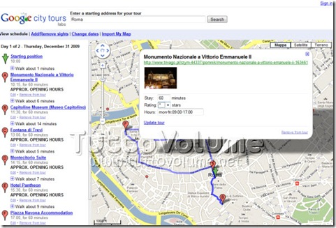 Google City Tours modifica tappa