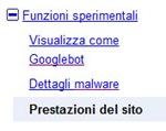 Strumenti per webmaster_prestazioni del sito