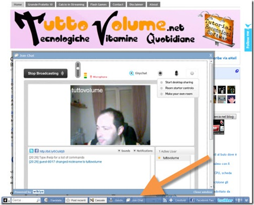 Toolbar Wibiya TinyChat