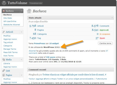 Wordpress_2.9.2_bacheca