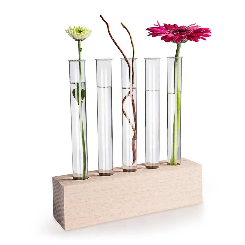 Reagenzglas Vasen aus Holz Tischdeko kaufen